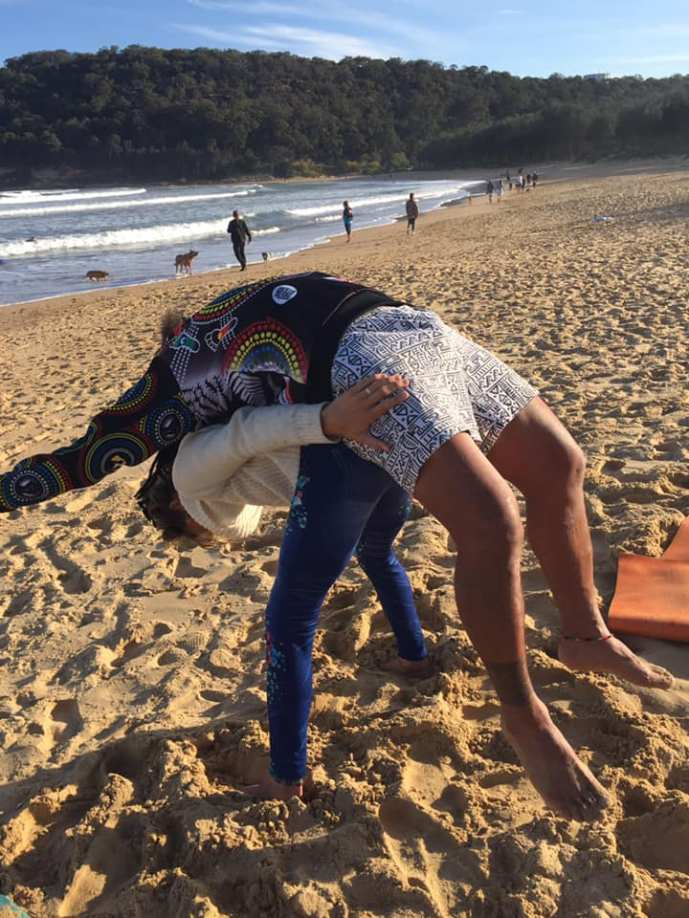 Acro on beach_graduation weekend